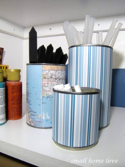 pretty-recycled-can-craft-supplies-storage