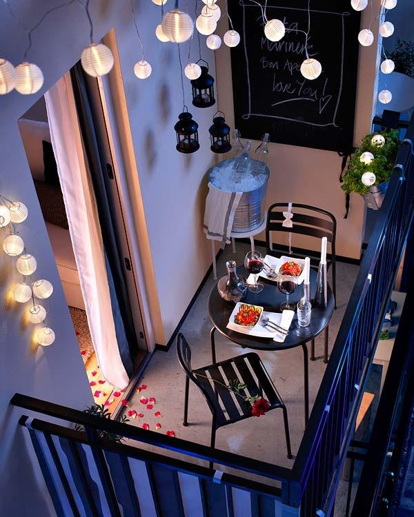 small balcony lights